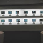 Apple HQ Executive Business Center: a wall of iMacs