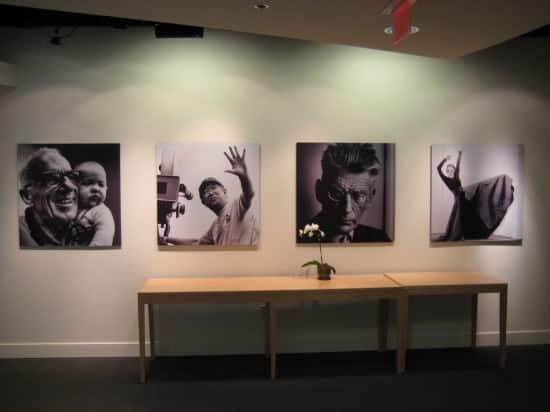 "Apple HQ Executive Briefing Center: photos of ""the crazy ones"" hanging from lobby walls"