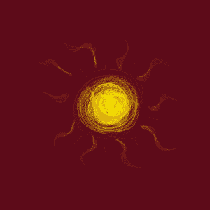 "My ""artistic"" interpretation of the sun."
