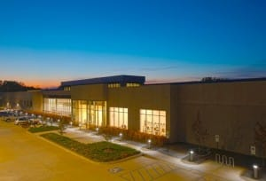 "A ""beauty shot"" of the Data Center's exterior."