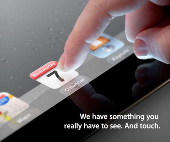 Apple's invitation to the iPad 3 keynote event