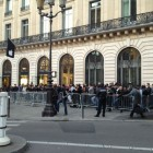The line for the iPad 3 outside the Opera Apple Store in Paris