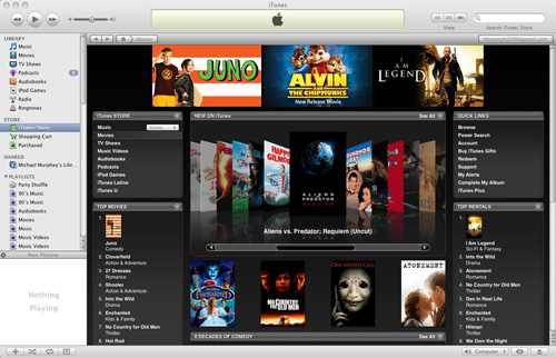 iTunes Store sells 50,000 movie rentals/purchases a day