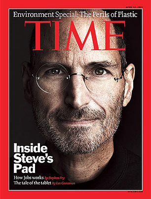 Steve Jobs on Time Magazine in 2010