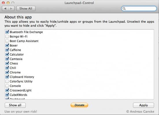 Launchpad Control