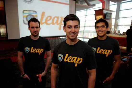 Leap founders (l-r) Nick Cramer, James Dickerson, and Ryan Tinker