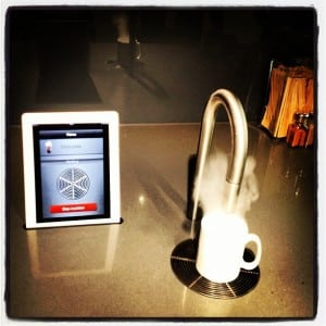 Apple London - Several offices have these: iPad-controlled coffee makers! [Image credit]