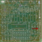 Mister Macintosh appears on a prototype logic board.