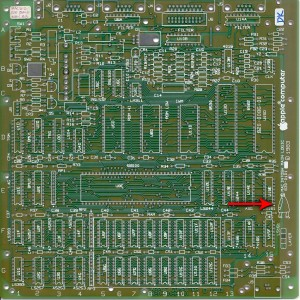 Mister Macintosh appears on a prototype logic board. [Image courtesy of DigiBarn Computer Museum.]