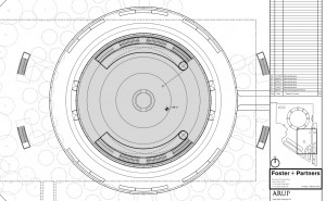 New Detailed Renders & Plans of Apples Wheel-Shaped Campus: Auditorium - Plans - Ground Floor