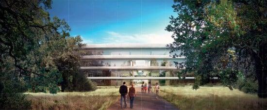 New Detailed Renders & Plans of Apples Wheel-Shaped Campus: Entrance - Render