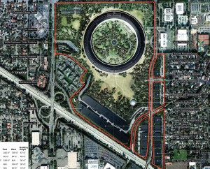 New Detailed Renders & Plans of Apples Wheel-Shaped Campus: Grounds - Render