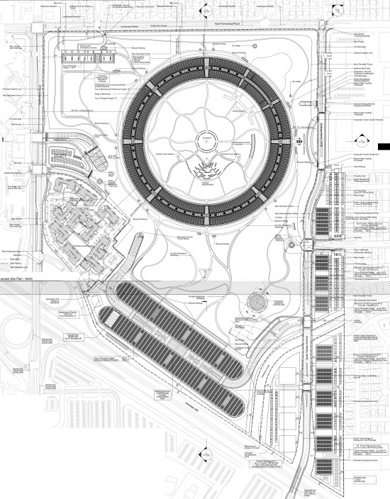 New Detailed Renders & Plans of Apples Wheel-Shaped Campus: Grounds - Plans