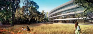 "New Detailed Renders & Plans of Apples Wheel-Shaped Campus: ""The Glade"" - Render"