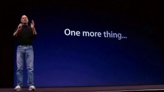 "Every ""One More Thing"" from Steve Jobs' Keynotes"