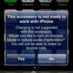 You can't charge the iPhone 3G on (some) iPod Audio Systems
