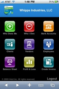 Take Your Business on the Road - Quickbooks for the iPhone