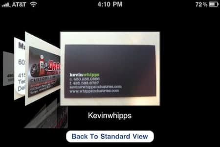 Review Scan Business Cards on the iPhone with