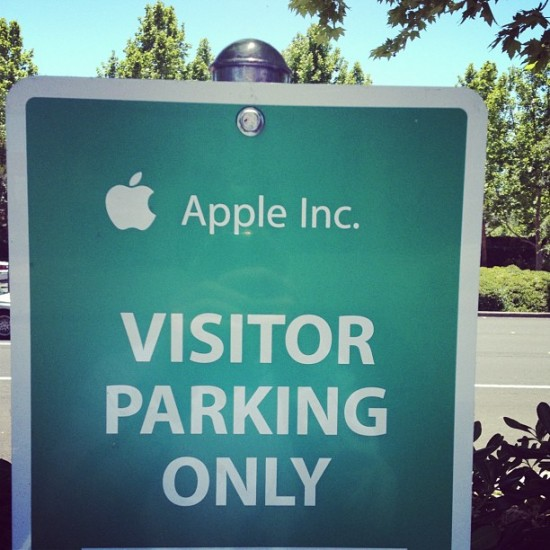 Apple is so consistent, they actually use their standard company font for their road signs.