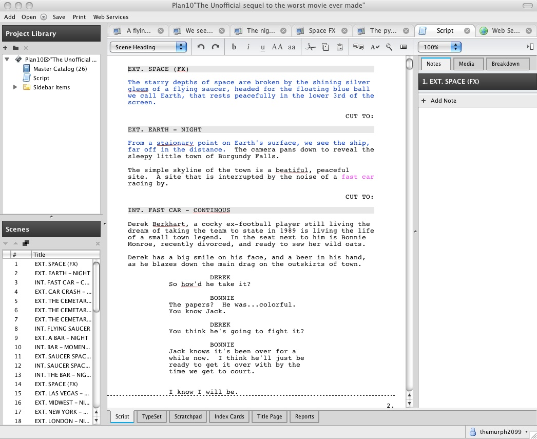 script writing software mac Scriptbuddy is full-featured screenwriting software it handles the formatting while you do the writing start writing in minutes with the free basic version.
