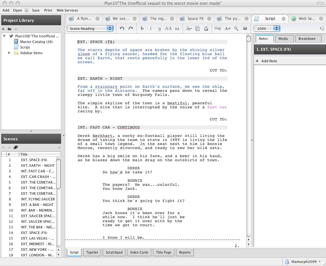 Script Writing Template Free from www.applegazette.com