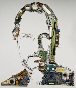 Steve Jobs portrait by Mint Digital