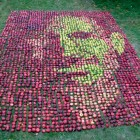 Steve Jobs Portrait Made of 3,750 Apples