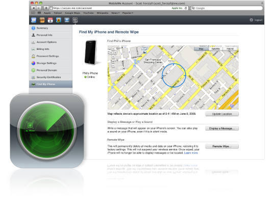 Find my iphone website